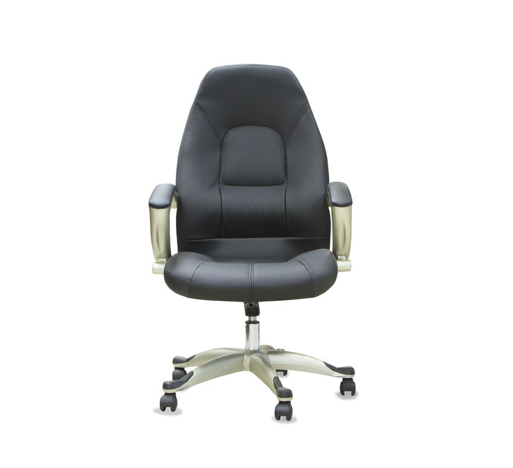 beautiful black leather ergonomic office chair